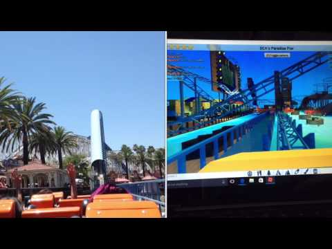 ROBLOX: Theme Park Tycoon 2 California Screamin' POV with Comparison (requested by. Sherri Fields)