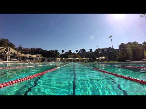Dip in Victoria Park Pool Sydney Australia (2014)
