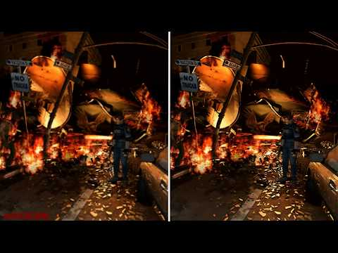 Resident Evil 2 Seamless HD Project - Side By Side Comparison (Gamecube/Dolphin)