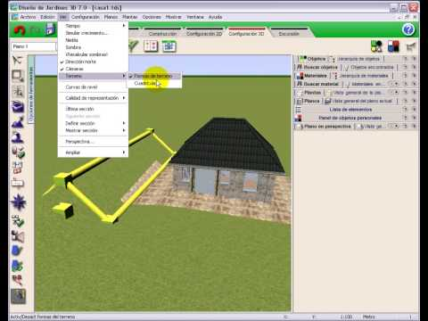 Dise o de jardines 3d 7 0 tutorial video 5 modelado de for Programa diseno interiores 3d gratis