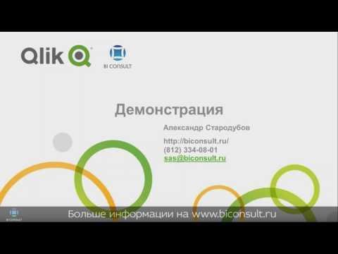 информация о Qlik Sense, первое приложение Qlik Sense техническое задание