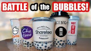 Ultimate Bubble Tea  Boba  Taste Test! Chatime, Sharetea, Gong Cha, King Tea, Coco Fresh Tea!