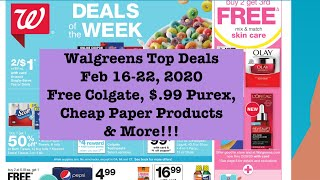 Walgreens Couponing Deals! Free Colgate $.99 Purex & More   Feb 2020 Sips by Tea Box