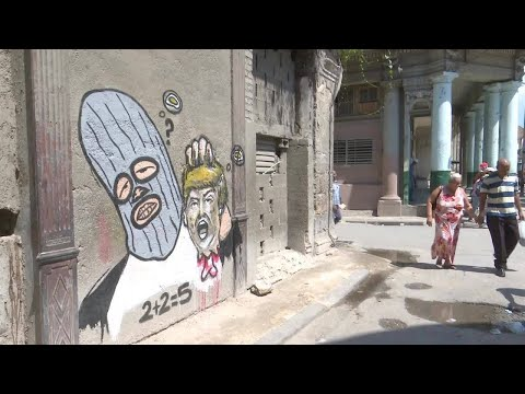 Cuban graffiti writer protests Trump's new policy