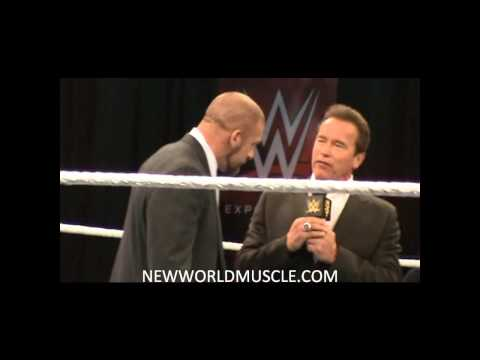 Arnold Sports Expo 2015 - Triple H and Arnold Schwarzenegger