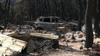 Campsite devastated in Spanish wildfires