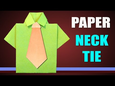 How to Make a Paper Neck Tie Easily