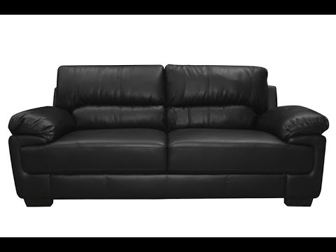 Black Leather Sofa   YouTube