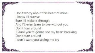 Bonnie Tyler - Dont Turn Around Lyrics