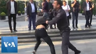 Azerbaijan Police Detain Scores of Protesters, Including Opposition Party Leader