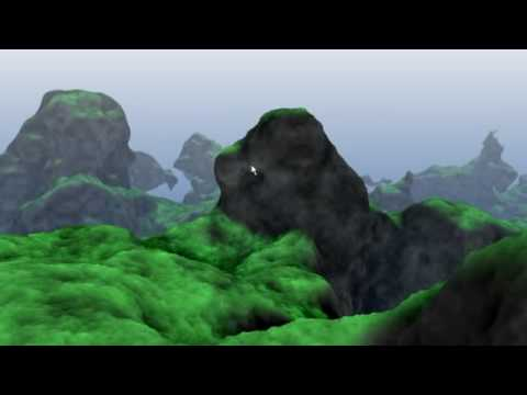 Terrain Rendering Demo With Perlin Noise, SSAO and SSDM | Geeks3D