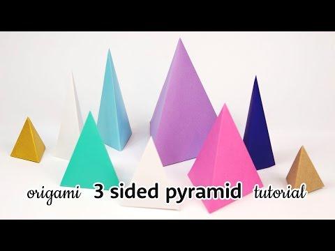 Origami 3 Sided Stacking Pyramid Tutorial ▲ DIY ▲ Paper Kawaii