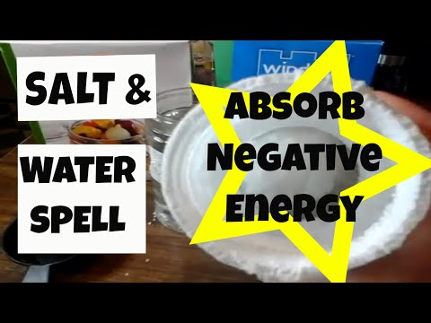 Salt and Water Spell to Absorb Negative Energy & Stress (With Results)  | Salt Water Fix