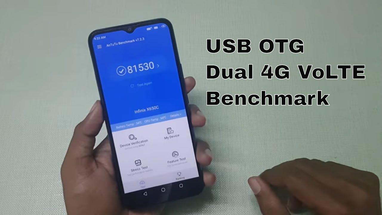 Infinix Hot 8 : USB OTG, Dual 4G VoLTE, AnTuTu Benchmark - YouTube