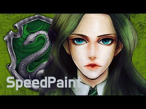 [SpeedPaint] Harry Potter Original CharacterㅣSlytherin OC l Digital Painting Process l