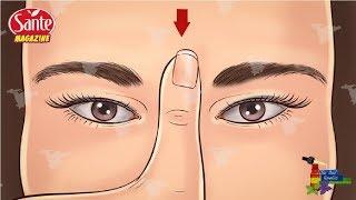 Massez ce point entre vos sourcils. Regardez ce qu'il arrive à votre santé ! C'est magique !