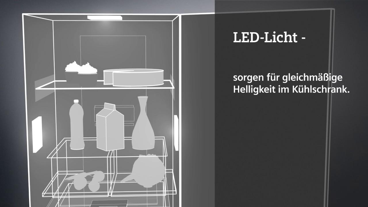 Siemens Kühlschrank Beleuchtung : Siemens led licht de youtube