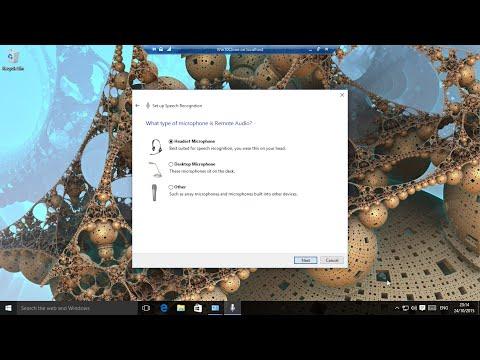Windows 10 - Setup Speech for Dictation and Cortana