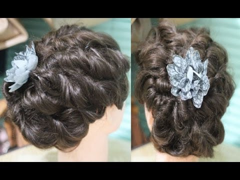 no heat easy messy twisted updo for prom wedding special