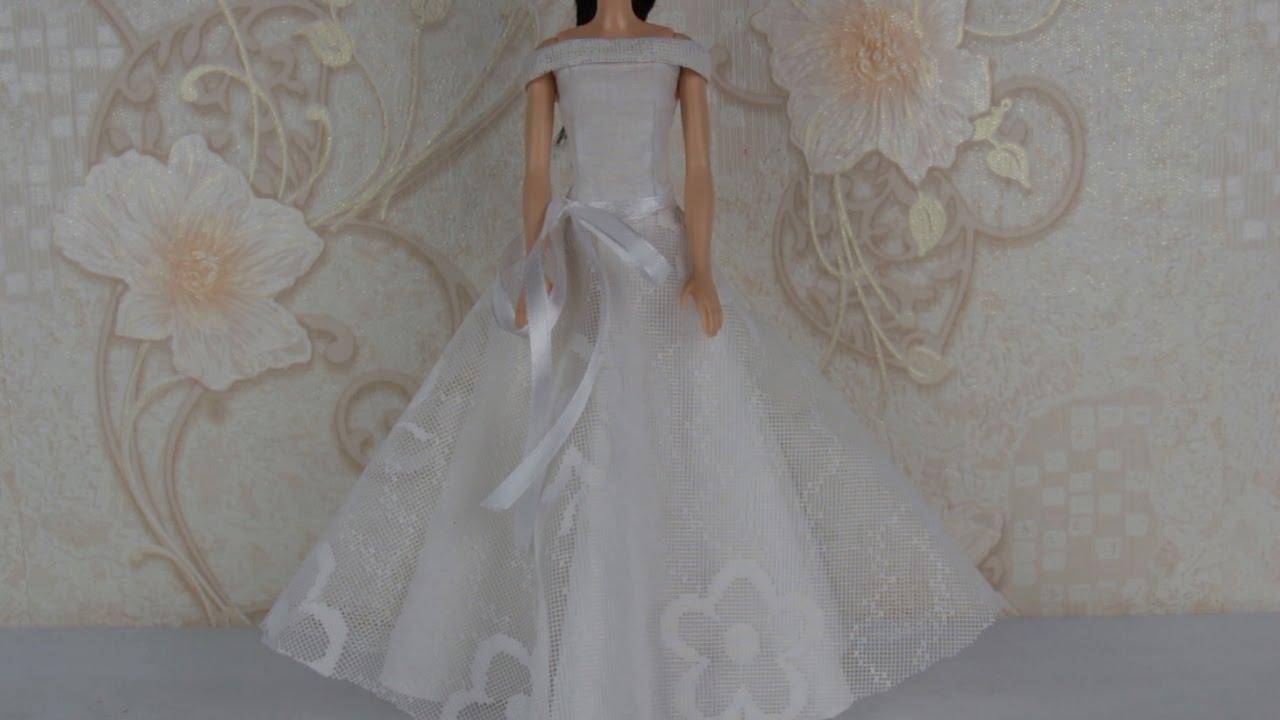 Свадебное платье на куклу своими руками выкройки фото 984