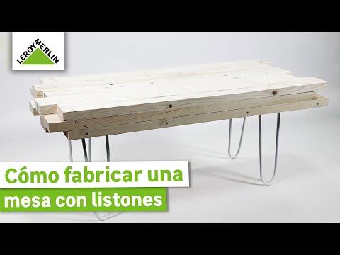 C mo fabricar una mesa con listones leroy merlin youtube - Tablones de madera leroy merlin ...