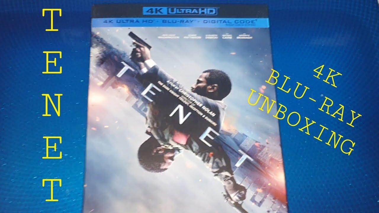 TENET 4K ULTRA HD BLU-RAY UNBOXING +MENU