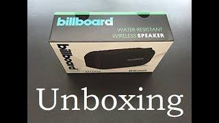 billboard bluetooth speaker quick unboxing hd