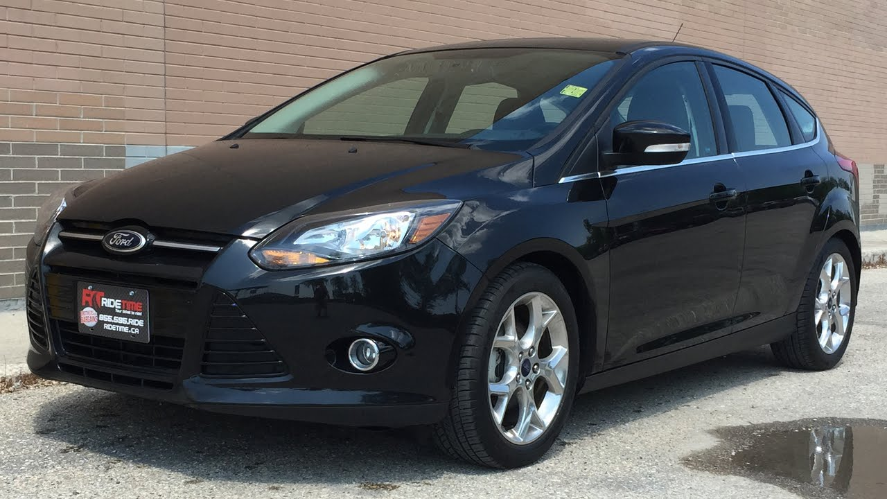 2014 ford focus titanium hatchback luxury group w leather heated seats sunroof nav huge. Black Bedroom Furniture Sets. Home Design Ideas