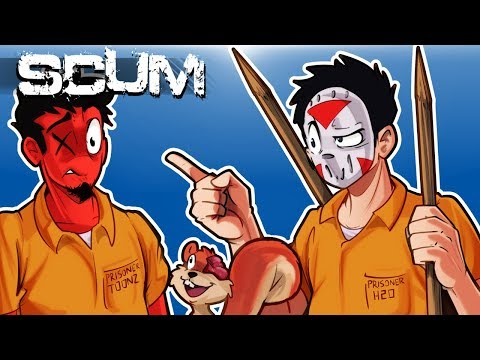 "SCUM - HOW ""NOT"" TO SURVIVE IN A SCUMMY WORLD! (Funny Moments) Ep. 2"