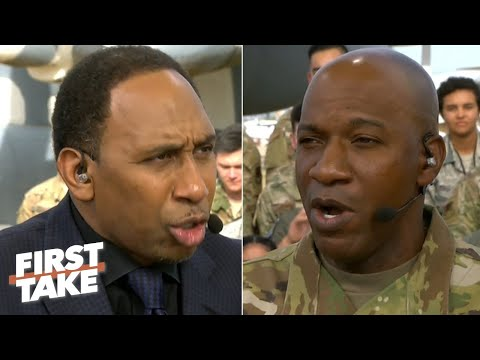 Stephen A. Debates Cowboys And Lakers With The Chief Master Sergeant Of The Air Force | First Take