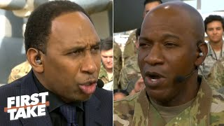Stephen A. debates Cowboys and Lakers with the Chief Master Sergeant of the Air Force | First Take Video