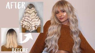 LONG SILVER HAIR TRANSFORMATION | TALIA MAR