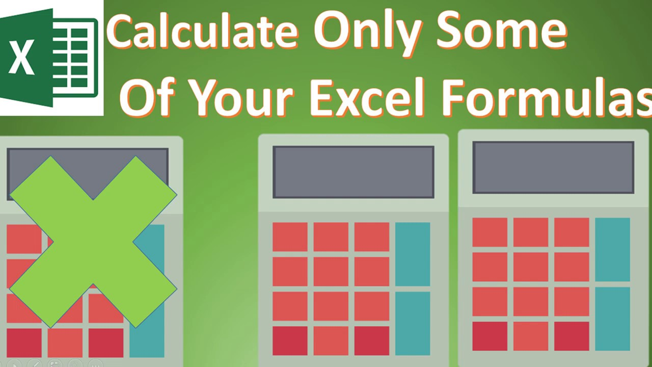 Formula Friday - Setting Excel To Calculate Formulas