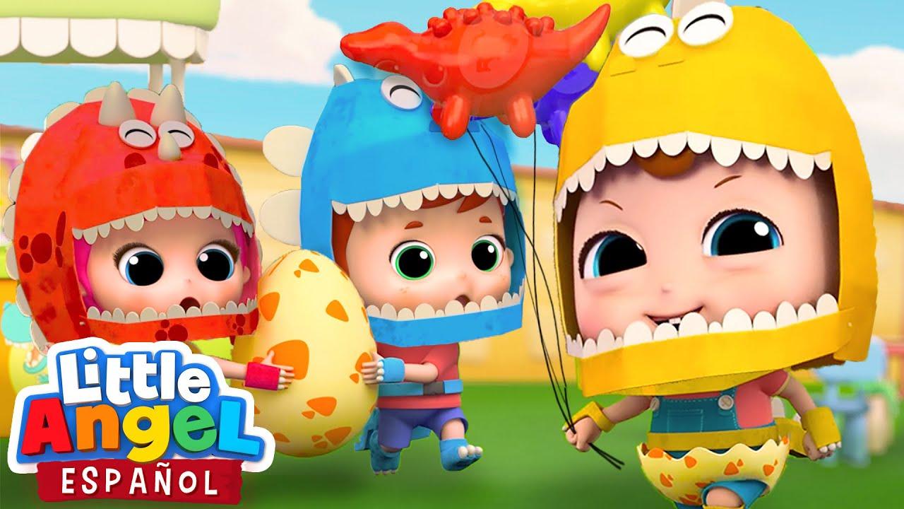 ¡Fiesta y Piñata de Dinosaurios! 🦖🦕 | Canciones Infantiles de Bebé Juan | Little Angel Español