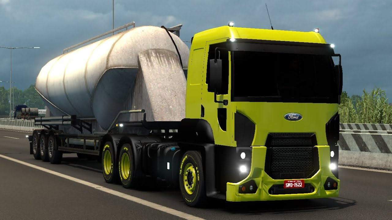 1 30 Euro Truck Simulator 2 Ford Cargo 2842 Mods Youtube