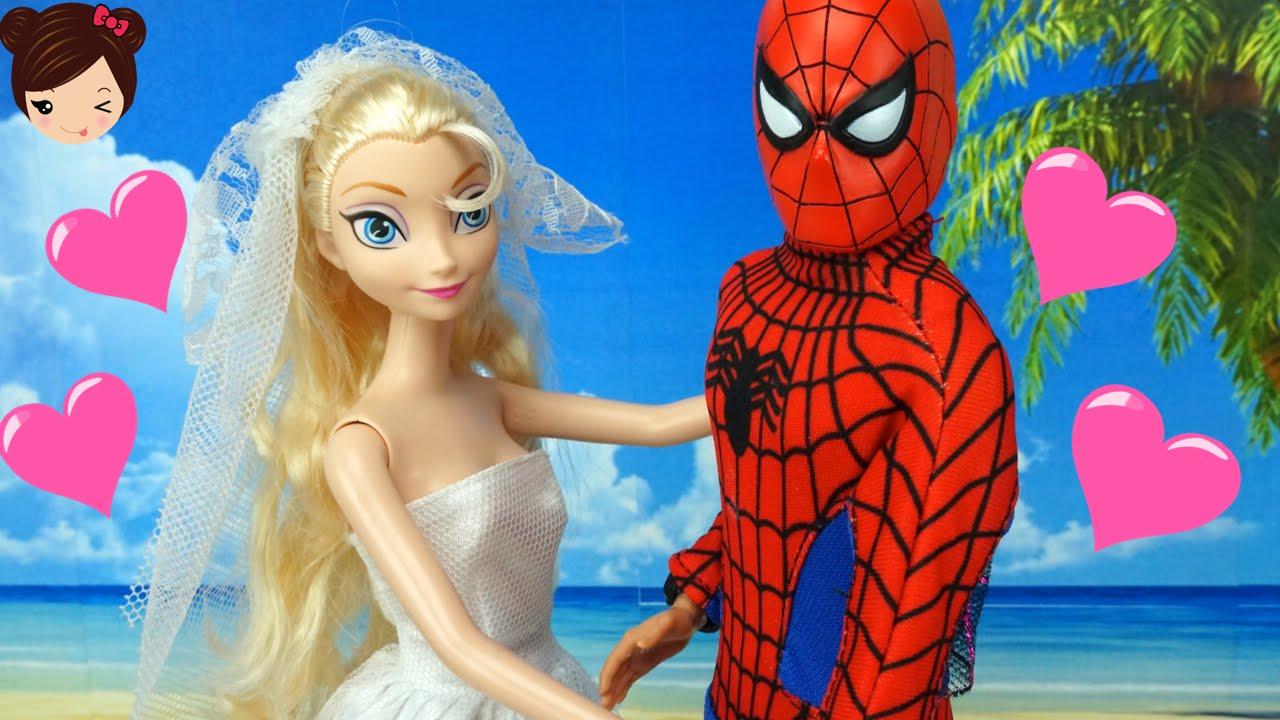 Elsa Se Casa Con Spiderman  La Boda de Elsa y Hombre Araa en