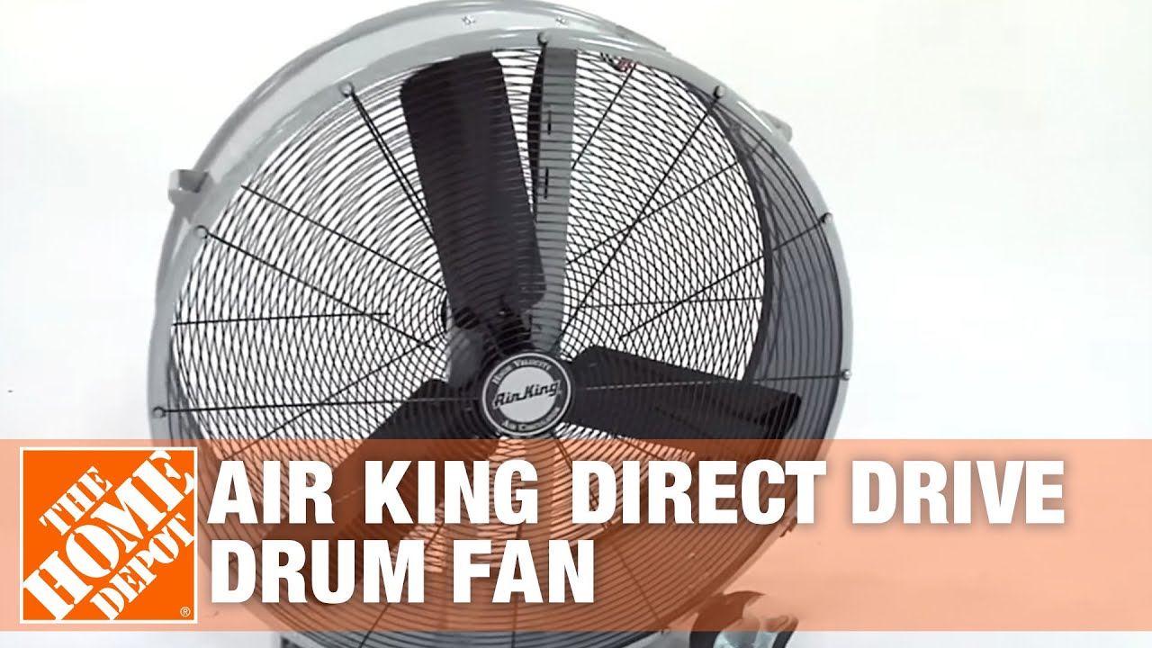 36 Inch Direct Drive Fans : Air king inch direct drive drum fan the home depot
