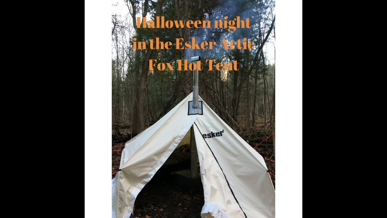 Overnighter in the Esker Arctic Fox hot tent & Overnighter in the Esker Arctic Fox hot tent - YouTube