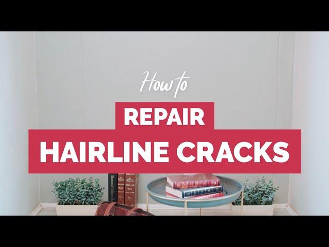 #DIY Repair Hairline Cracks