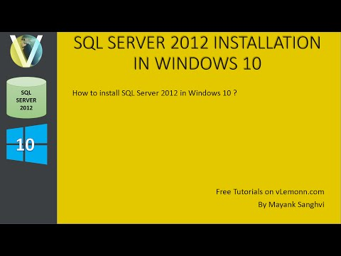 SQL Server 2012 Installation in Windows 10
