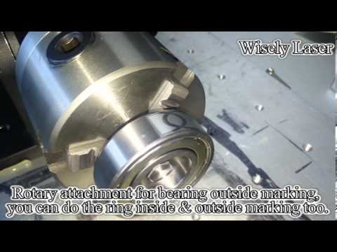 Germany IPG fiber laser marking and engraving machine for  rotary bearing marking