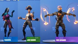 *ALL* LEAKED FORTNITE EMOTES (Patch 8.20) Jazz Hands, Fire Spinner, and More!