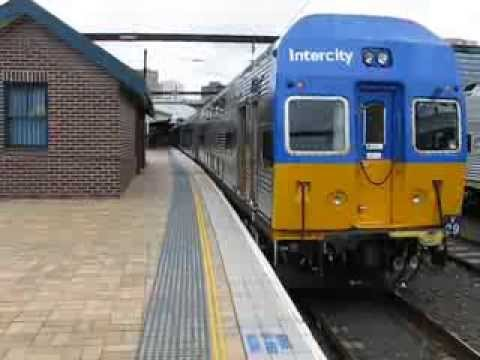 8 Car V-Set Departs Central Station, Sydney