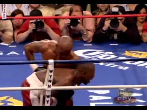 Floyd Mayweather vs Zab Judah & Roger Mayweather Brawl 10th round