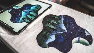 Printing My IPad Pro Art On T-Shirts