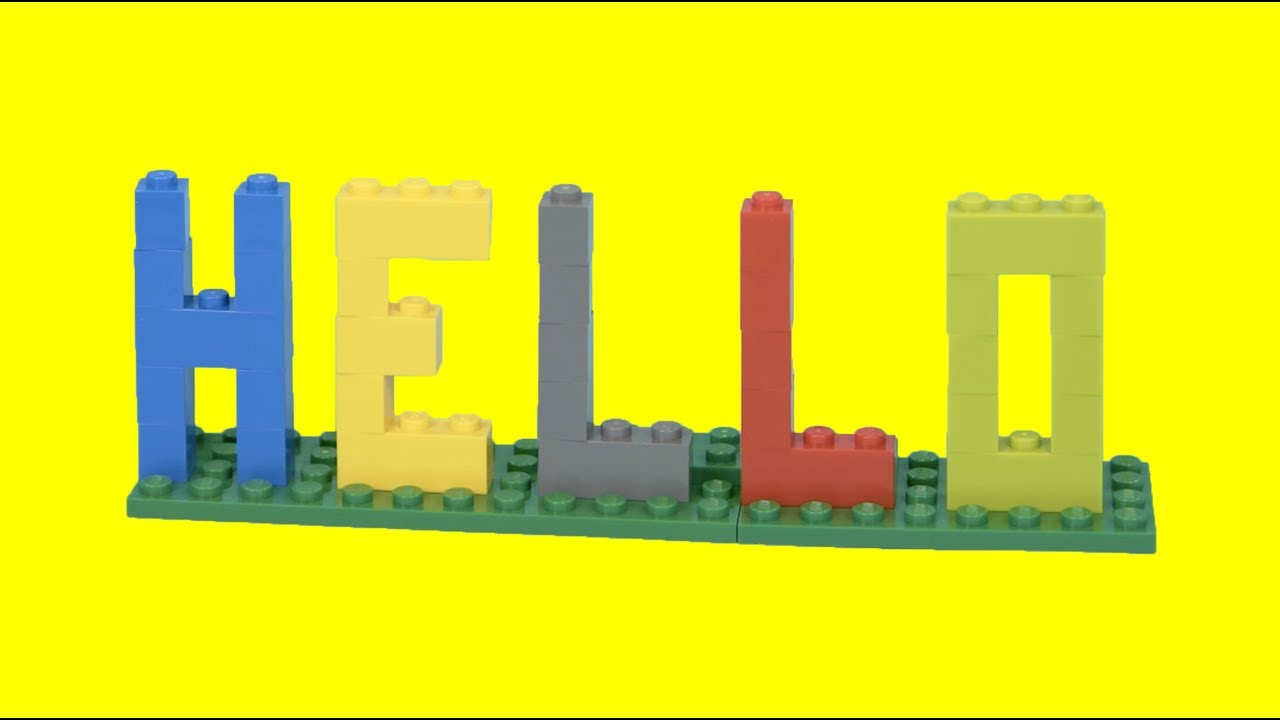 How To Make Lego Letters Hello Easy Lego Building