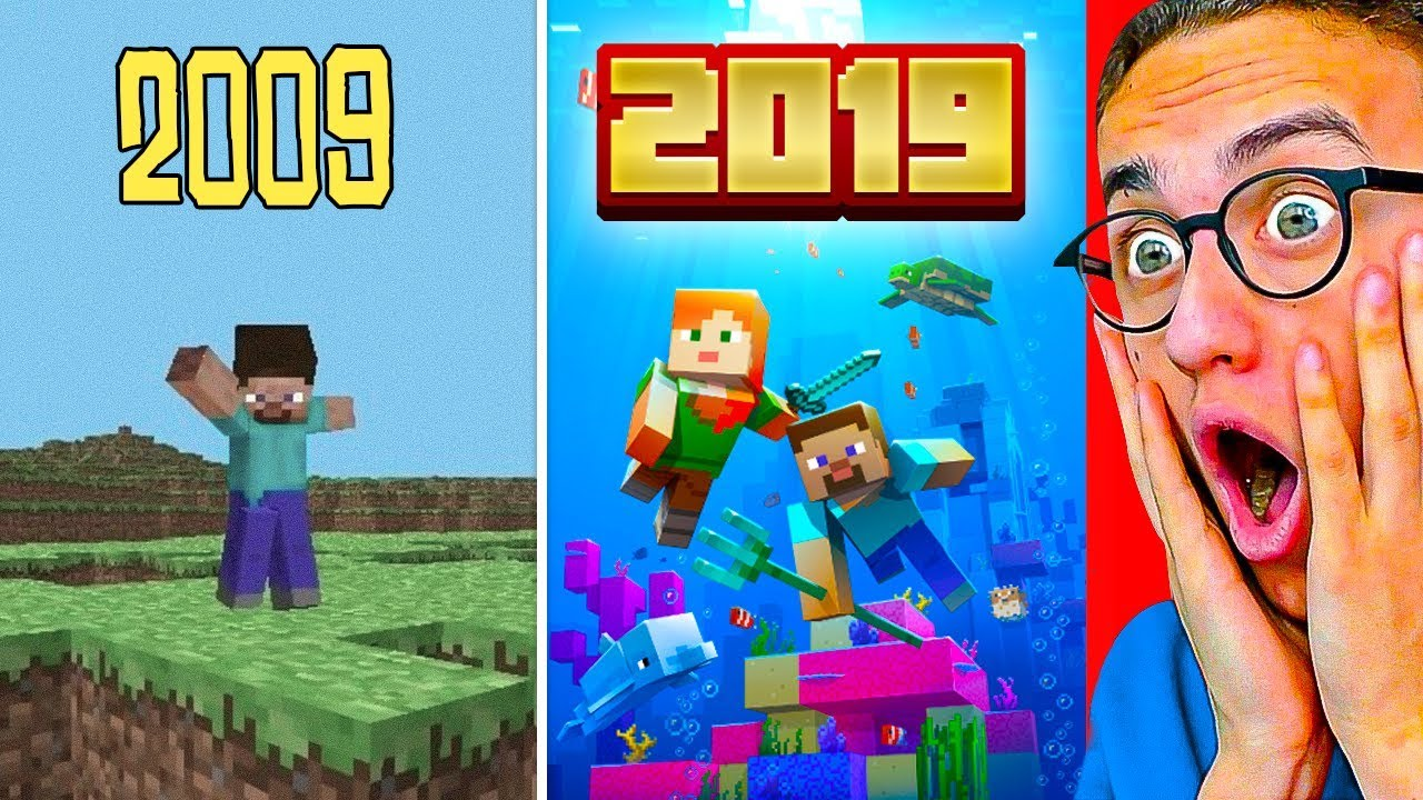 The Evolution Of Minecraft 2009 2019 Youtube