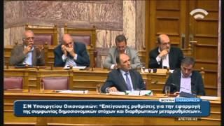 Σ.Θεοδωράκης (Πρόεδρος ΠΟΤΑΜΙ) για τις επείγουσες ρυθμίσεις εφαρμογής των δημοσ/ών στόχων (19/11/15)