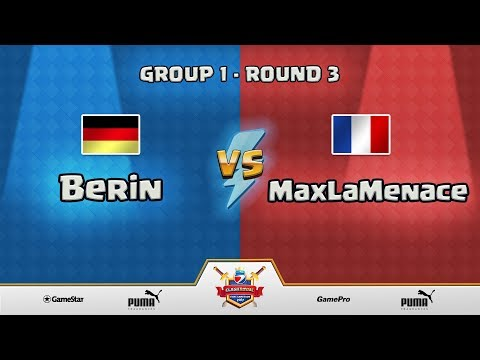 ESWC Gamescom 2017 Clash Royale - Group 1 - Round 3 - Berin vs MaxLaMenace