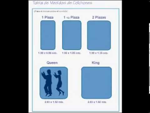 Medidas de colchones paraiso del per youtube for Medidas cama twin en centimetros